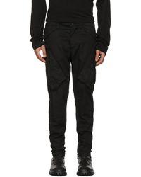 Julius - Black Vertical Gas Mask Cargo Trousers - Lyst