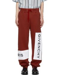 Givenchy - Red Cotton Logo Lounge Pants - Lyst