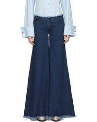 Marques'Almeida - Indigo Super Flare Jeans - Lyst