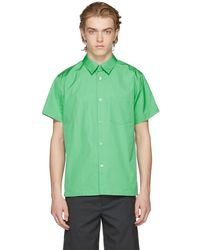 A.P.C. - Green Pocket Shirt - Lyst