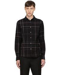 Stephan Schneider   Black Plaid Busy Shirt   Lyst