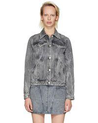 Givenchy - Grey Studded Denim Jacket - Lyst