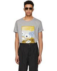 Acne Studios - Grey Naive Pop T-shirt - Lyst