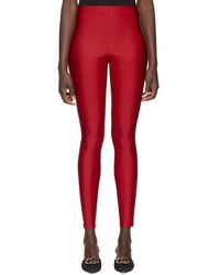 fb157e51be5 Gucci - Legging rouge Logo Band - Lyst