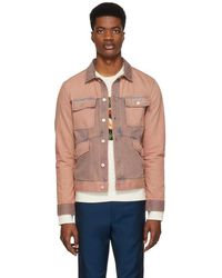PS by Paul Smith - Pink Denim Rider Jacket - Lyst