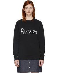 Maison Kitsuné - Black Parisien Sweatshirt - Lyst