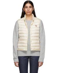 85fc66432 Lyst - Moncler Off-white Down Liane Vest in White