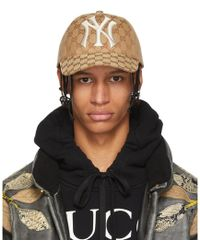 Gucci - Brown Ny Yankees Edition Gg Supreme Patch Cap - Lyst