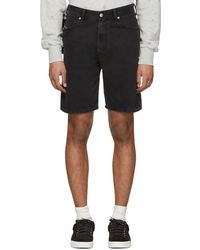 DIESEL - Black Denim D-wiloh Shorts - Lyst
