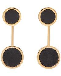 Jil Sander - Black Circle Earrings - Lyst