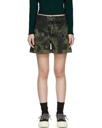 Proenza Schouler - Khaki And Black Slouchy Shorts - Lyst