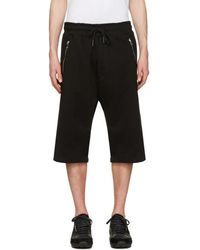 DIESEL - Black P-mike Shorts - Lyst