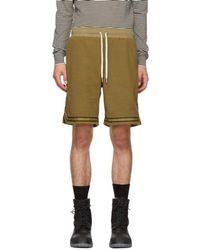 John Elliott - Brown Corduroy Knit Shorts - Lyst