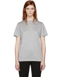 Prada - Grey Gum Patch Logo T-shirt - Lyst
