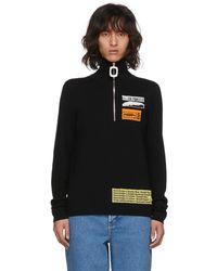 J.W. Anderson | Black Bubblegum Zip Sweater | Lyst