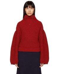 Lanvin - Red Chunky Turtleneck - Lyst