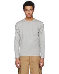 Comme des Garçons - Grey Long Sleeve Basic T-shirt - Lyst