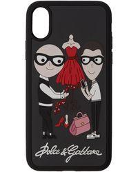 Dolce & Gabbana - Black Family Iphone X Case - Lyst