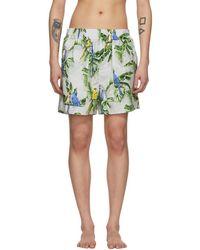 Stella McCartney - Grey Parrot Shorts - Lyst