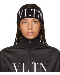 Valentino - Black Garavani Vltn Headband - Lyst