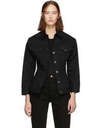 Goldsign - Black Denim The Waisted Jacket - Lyst