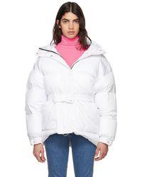 Ienki Ienki | White Michlin Belted Down Puffer Jacket | Lyst