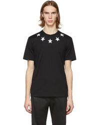 Givenchy - Black And White Vintage Stars T-shirt - Lyst