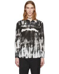 Ann Demeulemeester - White And Black Alex Tie-dye Shirt - Lyst