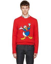 Gucci | Red Donald Duck Jumper | Lyst