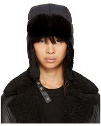 Mackage - Black Quilted Fur Mezlan Hat - Lyst