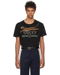 542f79869 Gucci T-shirt With Parrots Embroidery in Black for Men - Lyst