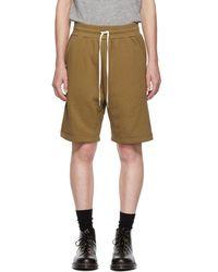 John Elliott - Brown Sweat Shorts - Lyst