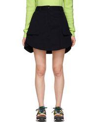 Carven - Navy Panelled Miniskirt - Lyst
