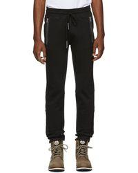Moncler - Black Zip Pocket Lounge Pants - Lyst