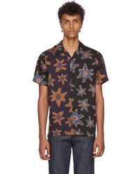 PS by Paul Smith - Black Mixed Flower Print Casual Shirt - Lyst