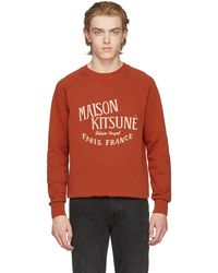 Maison Kitsuné | Orange Palais Royal Sweatshirt | Lyst