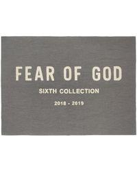 Fear Of God グレー シェニール エンブロイダリー スロー