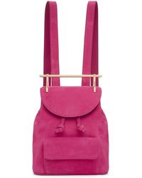 M2malletier - Pink Suede Mini Backpack - Lyst
