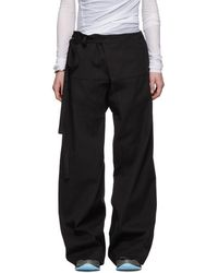 Acne Studios - Black Wide-Legged Trousers - Lyst