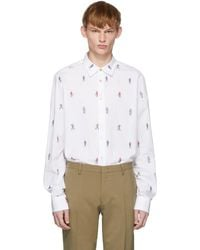 Paul Smith - White People Print Shirt - Lyst
