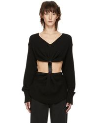 Loewe - Black Embroidered Knot Sweater - Lyst