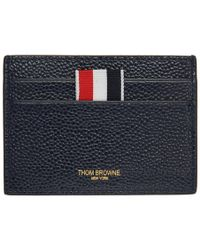 Thom Browne - Ssense Exclusive Navy Single Card Holder - Lyst
