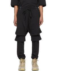 Ueg - Black Layered Drop Lounge Pants - Lyst