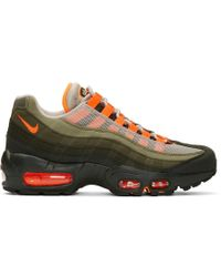 Nike - Green And Orange Air Max 95 Og Trainers - Lyst