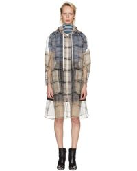 Fendi - Multicolor Check Organza Hooded Coat - Lyst