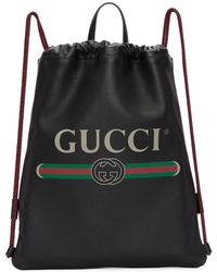 edc6bf78e5d3 Gucci Black Leather Limited Edition Bamboo Backpack in Black - Lyst