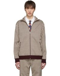 Valentino - Off-white And Burgundy Jacket - Lyst