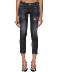 DSquared² - Black Twin Peaks Wash Jeans - Lyst