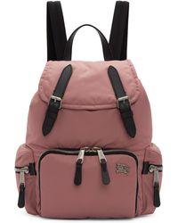Burberry - Pink Medium Backpack - Lyst