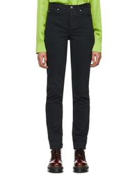 Martine Rose - Black High-waist Denim Jeans - Lyst